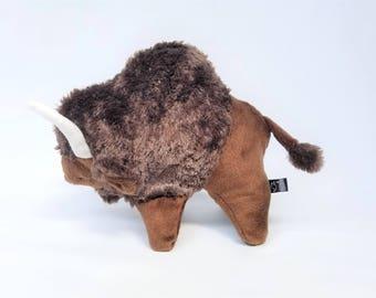 Buffalo Plush, Buffalo Stuffed Animal, Buffalo Toy