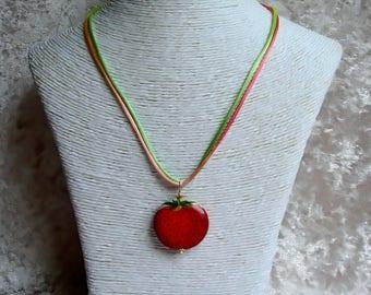 Gourmet Strawberry pendant necklace