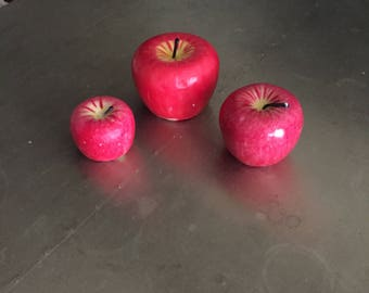 Set of 3 Fuji Apple Candles - S,M,L
