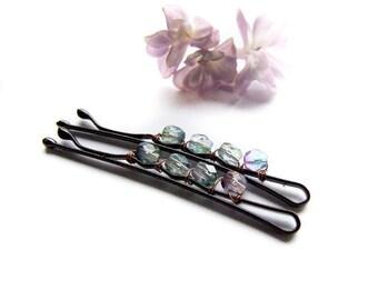 Blue Bobby Pin, Girly Cute Hair Pin, Royal Blue Hair Clip, For Girls, For Wedding, Bridals Clips, Blue Bobby Pins Set