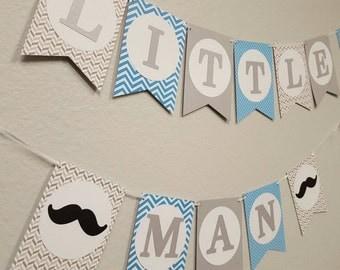 Little Man Baby Shower banner