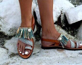 FREE SHIPPING _Bohemian Fringe Sandals : Symi