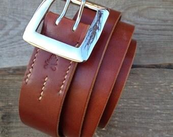 The Garrison Double Prong Belt Silver