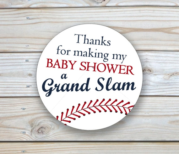Instant Download Baseball Baby Shower Thank You Favor