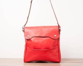 Leather handbag, leather purse - The Cleo of LOUBIER