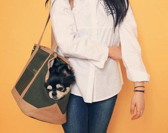 Boat canvas dog carrier - Green