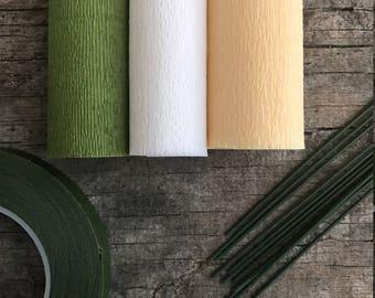 60g - DIY Italian Crepe Paper - Kit 3