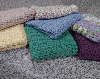 Softest Handmade Crochet 100% Cotton Wash Cloths