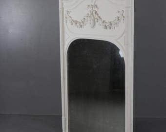Large Trumeau French Overmantle Mirror