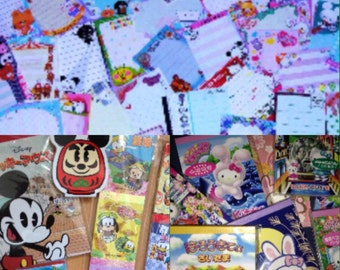 Kawaii Grab Bag Surprise Memo Sheets and Sticker Flakes Mix!!! Japanese Kawaii / Gotochi Hello Kitty / Disney Gotochi Kawaii
