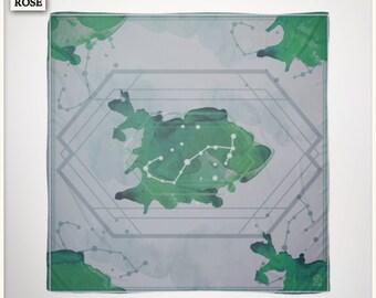 Foulard - Constellation Set - May Gemini / Emerald