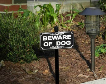BEWARE OF DOG Lawn Sign - Free Shipping