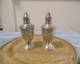 Vintage Weighted Sterling Silver Salt and Pepper Shakers