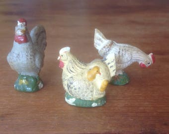 Chalkware Chickens from Italy