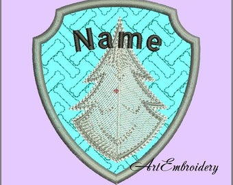 Personalized Name's Badge Paw Patrol Inspired - Embroidered Sew on Patches, Made to Order