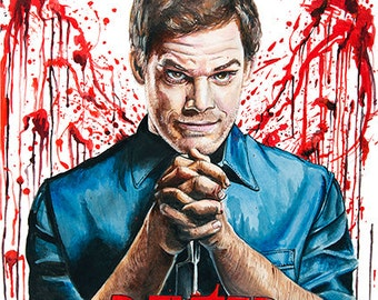 Dexter A3 poster print from original Sianypants artwork