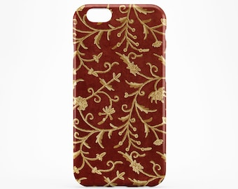 Flower iPhone Case Red iPhone 7 Floral iPhone 6 Case iPhone 7 Plus Gold Pattern Xperia Case iPhone 6 Plus Case iPhone SE Cover iPhone 4-5
