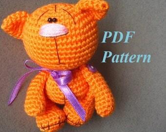 Amigurumi crochet kitten pattern, PDF pattern, ENGLISH language
