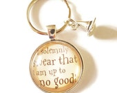 HARRY POTTER inspired 1 glass dome silver solemnly swear I am up to no good wizard fan gift jewellery Uk