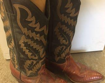 Authentic Vintage Reptile Skin Cowboy Boots