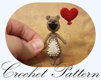 PATTERN: Crochet Bear Pattern, Amigurumi Bear, Miniature Bear (English Only)