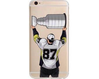 Champion Sid Hockey Phone Case / Hockey Phone Case / Fits iPhone 5, iPhone 6, iPhone 7 / Handdrawn iPhone Case by DangleGear Co