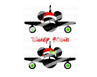 Christmas Santa Disney Bound svg - SVG - Cutting Files -DFX - minnie plane - mickey plane - Christmas in Disney