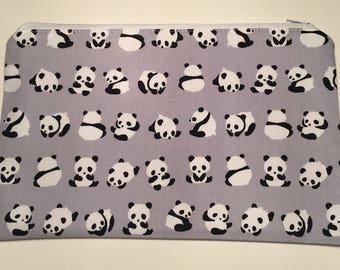 Panda Cosmetic Purse, Make-up bag, zipper pouch,phone pouch, cosmetic purse,cosmetic bag, pencil case.
