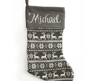 Cutlery Christmas Stocking Knitting Pattern : Knitted Christmas Stocking Silverware Holder PATTERN