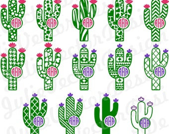 Patterned Cactus  SVG Cutting Files, Cactus svg, Cactus cut File, Flower svg, Cactus Clip Art, svg, dxf, png, ai, eps, Cactus Vector