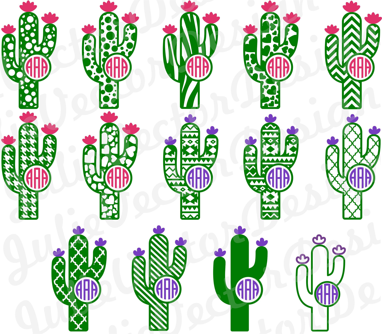 Patterned Cactus Svg Cutting Files Cactus Svg Cactus Cut