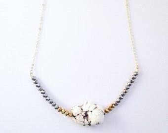 Dainty Nugget Necklace (JNO07)