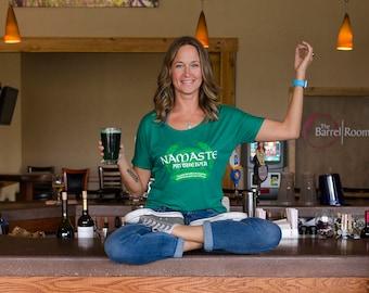 Namaste at the Bar Yoga inspired St Patty's Day shirt