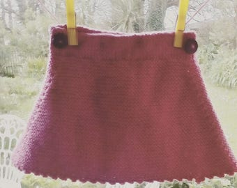 Knitted Cerise Skirt