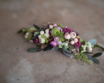 Hair comb Flower floral fairy hair flowers wedding comb bridal hair fashion accessories barn wedding woodland style