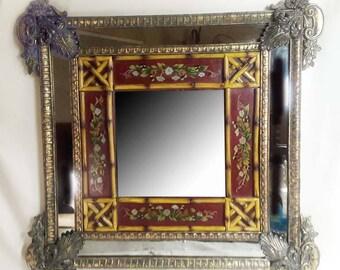 Beautiful Euro-Asian Wall Mirror Art Nouveau