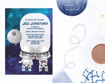 stormtrooper invitation, star wars invitation, star wars party, star wars birthday, star wars invite, birthday invitation, star wars theme