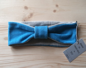 Headband made of 100% hemp Jersey, blue sea and nature