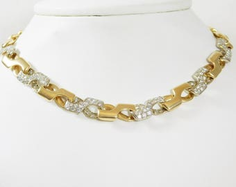 Custom Made 14k Gold Infinity Necklace with diamonds