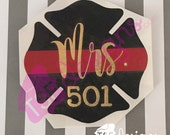 Firefighter Wife decal...