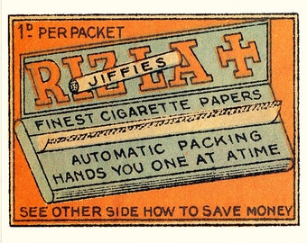 Rizla  cigarette Papers - Enamel Metal TIN SIGN Wall Plaque