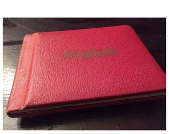 """Autograph book from 1942, property of """"Ruthie"""""""