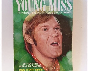Glen Campbell Memorabilia, Young Miss Magazine feat Glen Campbell 1969