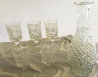Wexford Decanter and wine glasses