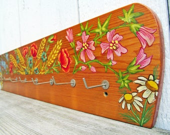 Classical key holder / Wooden Wall Hanger / Hook Rack wood typical German