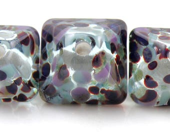 Bali Nights Crystal Trio SRA Lampwork Handmade Artisan Glass Donut/Round Beads Made to Order 15mm and 18mm