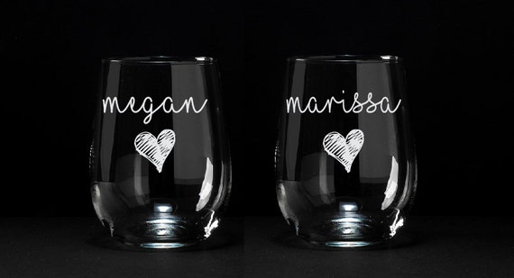 Personalized Wine Glass Birthday Gift Wine Glass Gift Gift