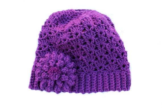 Ready to Ship**Free Shipping/Messy Bun Hat/Purple Raspberry Crochet Bun Beanie Hat/Messy Bun/Bun Beanie/Ponytail Hat/Knit Knitted Bun Beanie