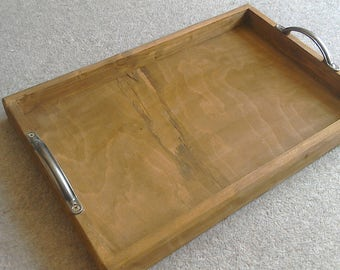 Lovely Rustic Handmade Wooden Tray