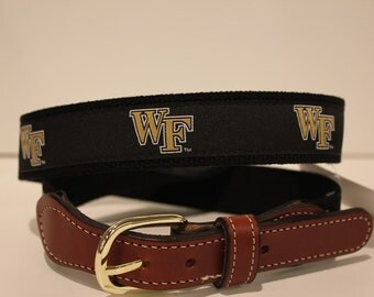 University of Wake Forest Men's  Web Leather Belt
